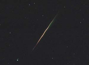 Bright Aurigid meteor